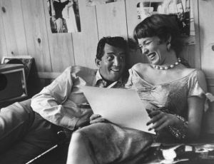 Dean Martin and Shirley MacLaine read.