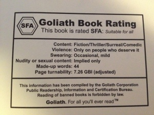 Goliath Rating for Lost in a Good Book.