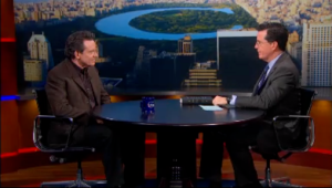 Speaking of narcissists . . Lawrence Wright, author of Going Clear, being interviewed by Stephen Colbert's alter ego.