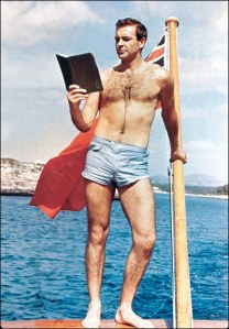 Even James Bond reads during the summer!